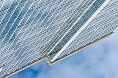 glass skyscraper building against sky background square illustration - stock photo