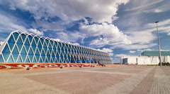 Central Asia, Kazakhstan, Astana, Palace of Independence timelapse hyperlapse Stock Footage