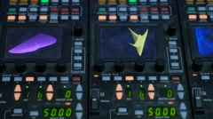 Video color visual mixing control panel, 4K Stock Footage
