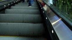 Escalator in building Stock Footage
