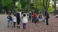 Children Kids Friends Family Fun Japanese People Playing In Park Stock Footage