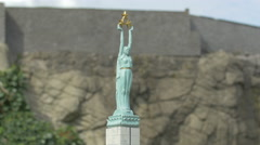 The Freedom Monument displayed at the Mini-Europe, Brussels Stock Footage