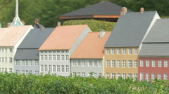 Row of buildings displayed at the Mini-Europe, Brussels Stock Footage