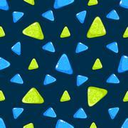 Triangle Pattern. Vector Illustration - stock illustration