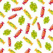 Candy Pattern. Vector Illustration Stock Illustration