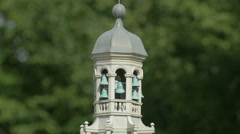 The bell tower of the Town Hall in Maastricht at the Mini-Europe, Brussels Stock Footage