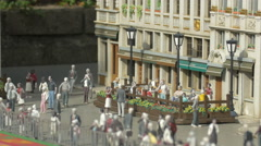 Figurines in Brussels' Grand Place displayed at the Mini-Europe, Brussels Stock Footage