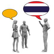 Learn Thai - stock illustration