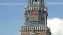 The tower of the Waag building from The Netherlands at the Mini-Europe, Brussels Stock Footage