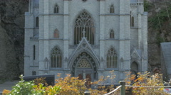 The Notre Dame de Dinant from Belgium displayed at the Mini-Europe, Brussels Stock Footage