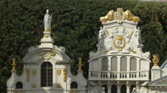 The beautiful guild halls of Brussels displayed at the Mini-Europe, Brussels Stock Footage