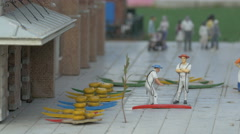 The famous cheese market from The Netherlands at the Mini-Europe, Brussels Stock Footage