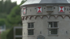 Main Tower of teh Hoofdtoren in Hoorn at the Mini-Europe park, Brussels Stock Footage