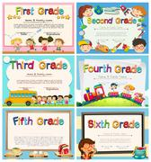 Certificates for children in primary school Piirros