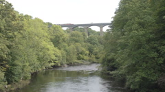 World Famous Pontcysyllte Aqueduct on the Llangollen Canal Stock Footage