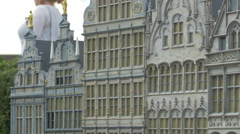 Beautiful buildings in Grand Place displayed at the Mini-Europe, Brussels Stock Footage
