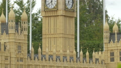 The Big Ben and Westminster Palace displayed at the Mini-Europe, Brussels Stock Footage