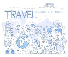Travel Around the World. Vector Illustration Infographics Stock Illustration