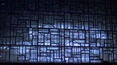 Fédération internationale des journalistes building's windows in Brussels Stock Footage