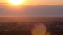 View of Astana modern city at sunset timelapse Stock Footage