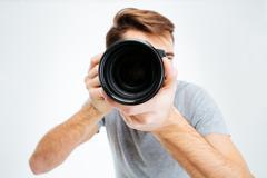 Photographer making shot Stock Photos