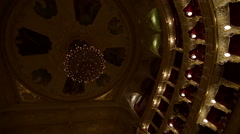 Show is starting in Odessa Opera and Ballet Theater, interior Stock Footage