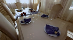 Luxury Apartment Modern interior dining room. Stock Footage