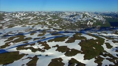 Flying above Norway, aerial footage Stock Footage