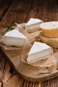 Sliced Camembert - stock photo