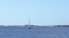 Sailboat in Gothenburg Archipelago - stock footage