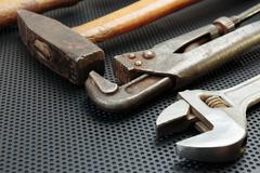 Old locksmith tools Stock Photos
