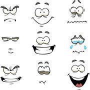 Cartoon comics face Stock Illustration