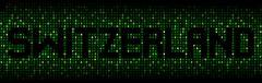 Switzerland text on hex code illustration - stock illustration