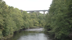 A timelaspe shot of the Pontcysyllte Aqueduct Stock Footage