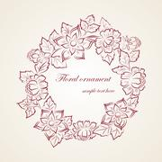 Element floral ornament Stock Illustration