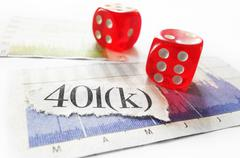401k and dice concept - stock photo