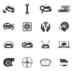 Stock Illustration of Car shop icons set