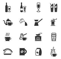 Utensils for the preparation of beverages Stock Illustration