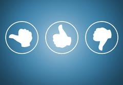 Review with your thumb icons concept Stock Illustration