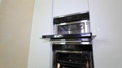 Luxury Apartment Modern kitchen interior. Stock Footage