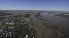 BONNET CARRE SPILLWAY USA, JANUAR 2016, Overflight Miississippi Near Baton Rouge Stock Footage