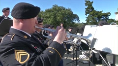 BATON ROUGE USA, JANUARY 2016, Close Up Military Band Outside Stock Footage