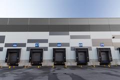 logistic warehouse gates - stock photo