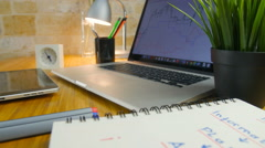 Comfortable working place - stock footage