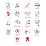 Medicine Kinds. Vector Illustration Set - stock illustration