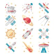 Space Icons Vector Set Piirros