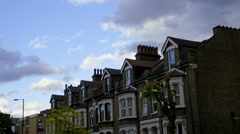 4k Time Lapse English terraced houses Stock Footage