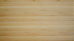 Close up brown wood plank texture table. Stock Footage