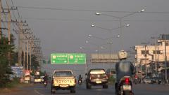 Traffic on the countryside in thailand Arkistovideo