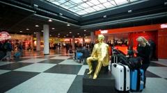 Munich airport. Stock Footage